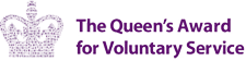 Awarded the Queens award for Voluntary service