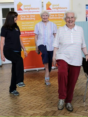 A postural stability and exercise class for the elderly in Tunbridge Wells, Kent